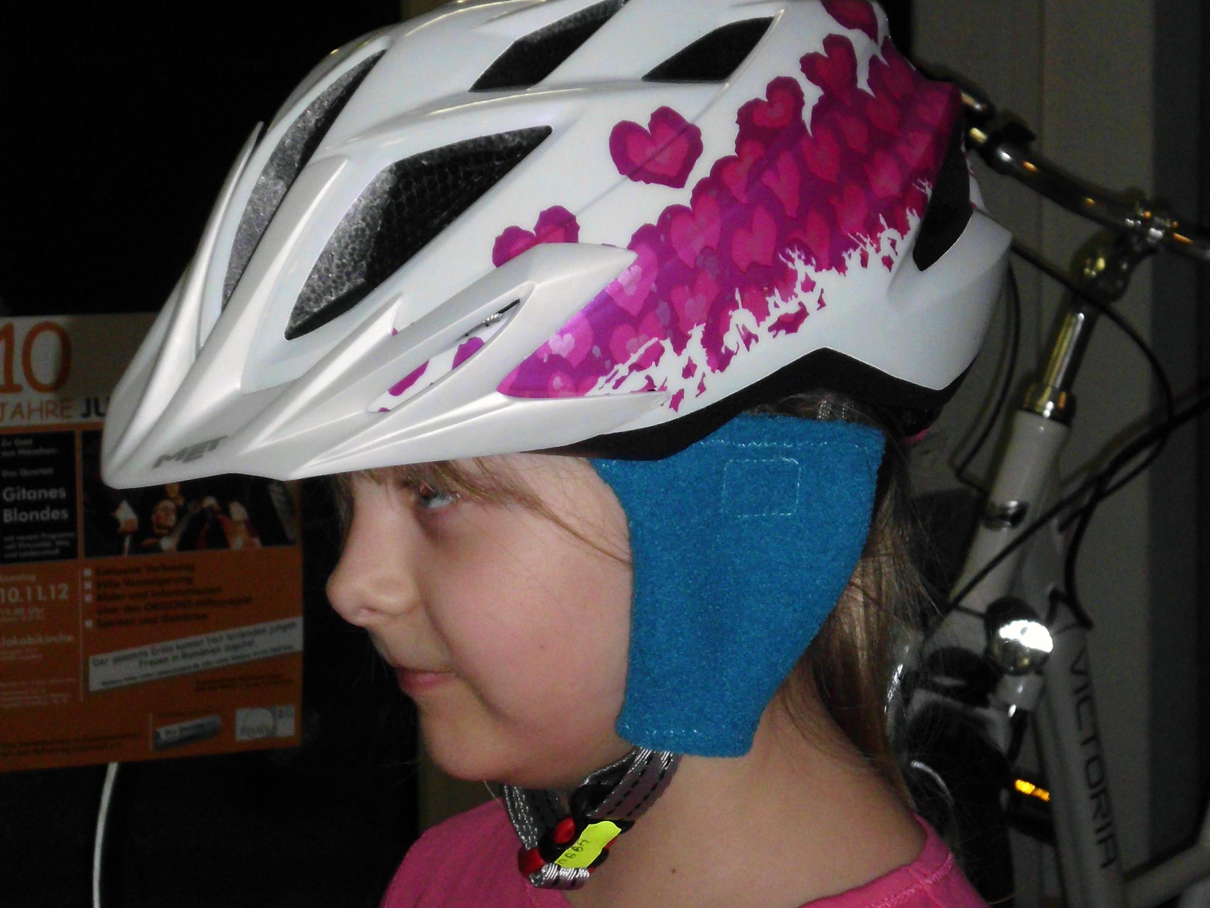 Ohrenwärmer für den Fahrradhelm
