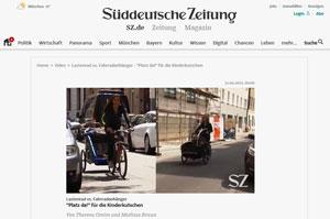 sueddeutsche.de Test Fahrradtransport mit Kindern