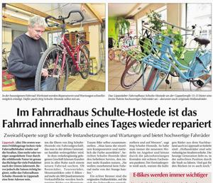 Fahrradhaus Schulte Hostede im Wochentipp
