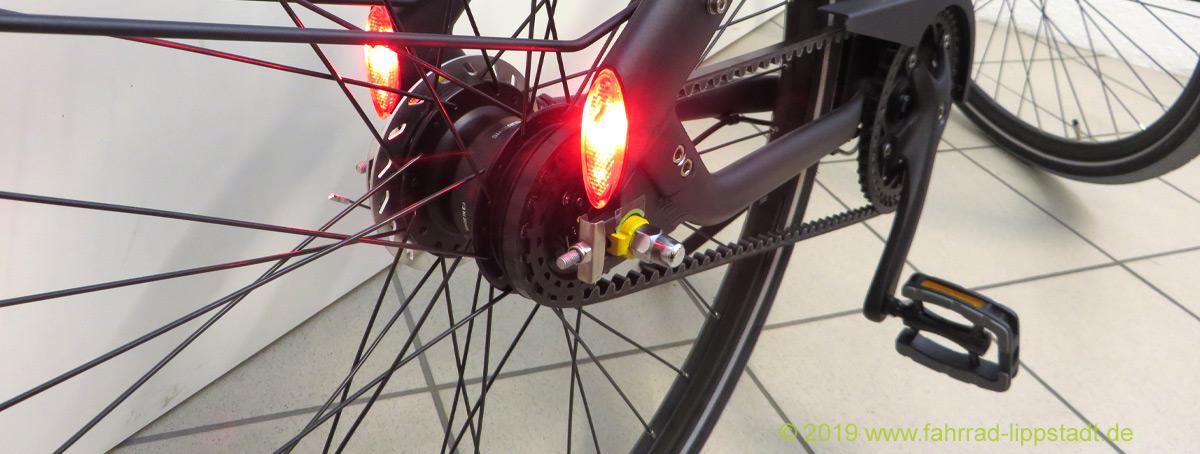 Cortina-Fahrrad mit Riemenantrieb